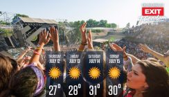 EXIT weather forecast: Warm, bright and made for partying!