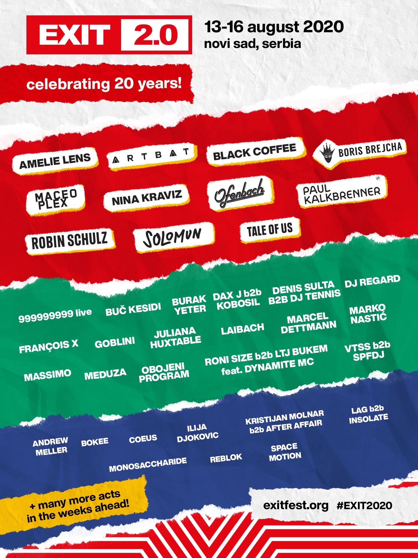Exit Festival lineup