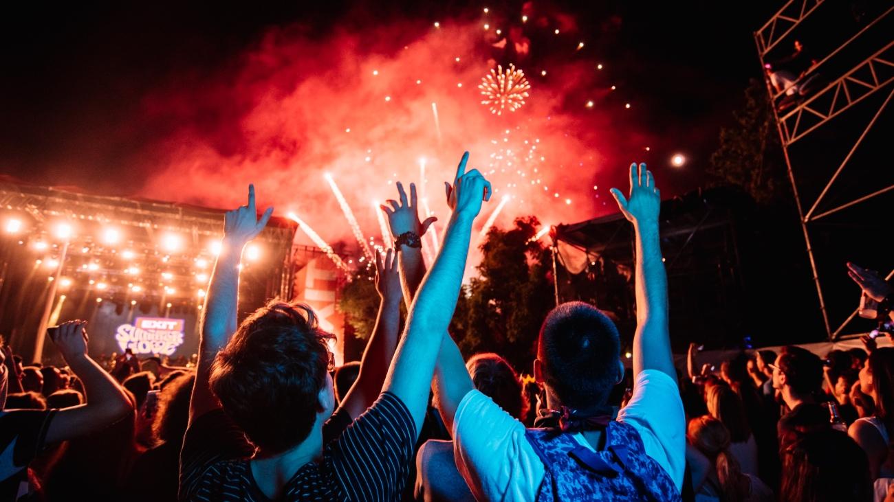 EXIT festival fireworks